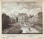 Het Huis van voren, komende uit de Laan, van den kant van Appeldoorn = Domus anterior, e diverticulo a parte Appeldornae.