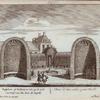 Rustplaats of Kabinet, te zien op de zyde van 't Hof, van den kant der Kapelle. = Statio ad latus aulae, a parte Sacelli.