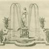 [Fountain with centerpiece of nude female figure on a pedestal.]