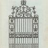 Modern iron gate.
