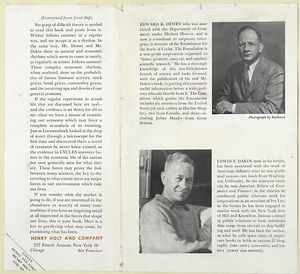 Cycles - The science of prediction, by Edward R. Dewey and Edwin F. Dakin.