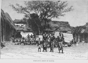 Porto - Novo; Group of natives.