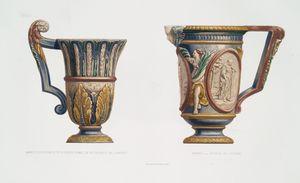 Hanap, collection de Mr. le baron Lionel de Rothschild de Londres ; Hanap, Musée du Louvre.