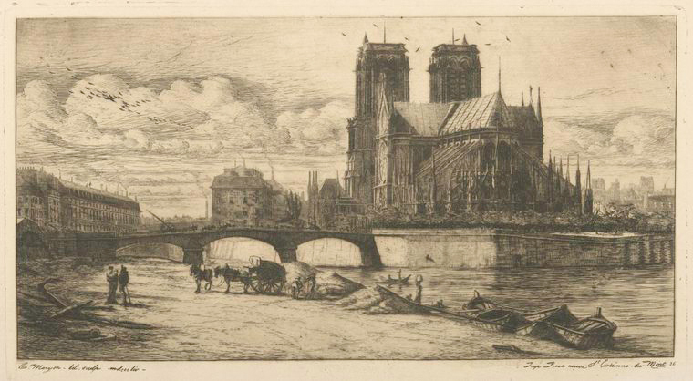 Fascinating Historical Picture of Notre-Dame de Paris in 1854