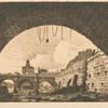Le Pont-Neuf et la Samaritaine de dessous la première arche du Pont-au-Change.