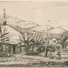 Nouvelle Calédonie : grande case indigène sur le chemin de ballade à Poepo.