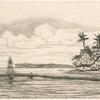 Océanie, îlots à Uvea (Wallis), pêche aux palmes.