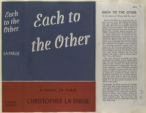 Each to the other, a novel in verse.