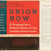 Union now; a proposal for a federal union of the democracies.