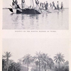 "Dug - out on the Kaduna manned by Nupes.; ""Silhouetting perchance a group of palms."""