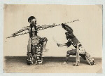 Battle dances, Mangkunagaran and Kraton, Surakarta. Danced battle (Pandji Andaga vs. Buginese warrior), Mangkunagaran, Solo.