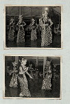 Dance (Miscellaneous). Group of female dancers in a pillared hall.