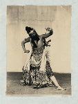 Wayang wong, Mangkunagaran. Dancer portraing a strong male character.