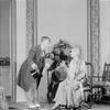Henry Travers as Mr. Doolittle and Helen Westley as Mrs. Higgins.