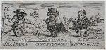 Signior Harlequino Pantomime, Monsieur Cacufogo Custard-Cap, Scaramouche