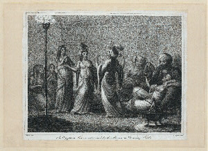 An Egyptian harem entertained by the Almees, or dancing girls