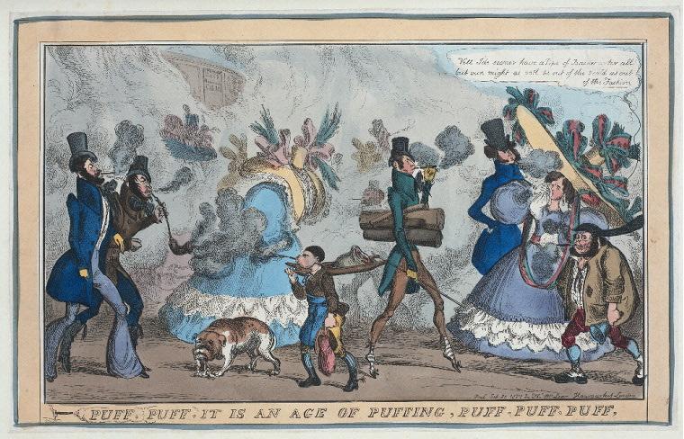 Puff, Puff, it is an age of puffing, puff, puff, puff. Imagen: Biblioteca Pública de Nueva York, colección digital