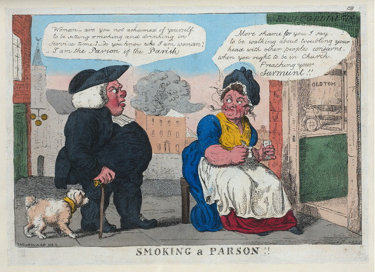 Smoking a parson. Imagen: Biblioteca Pública de Nueva York, colección digital