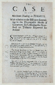 The case of the merchants trading intobacco …[Front]