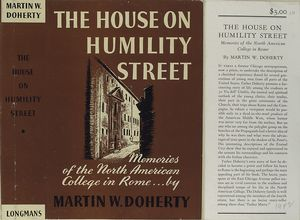 The house on Humility Street : Memories of the North American College in Rome.