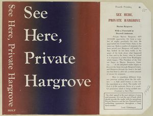 See here, Private Hargrove.