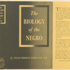 The biology of the Negro.