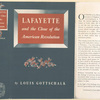 Lafayette and the close of the American revolution.