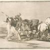 Los moros establecidos en España, prescindiendo de las supersticiones de su Alcorán, adoptaron esta caza y arte, y lancean un toro en el campo.