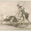 El Cid Campeador lanceando otro toro.
