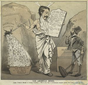 The American Moses [cartoon depicting James Gordon Bennett, junior, and Aaron Parnell].