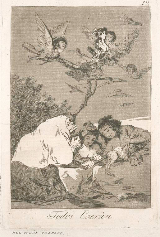 This is What Francisco Goya and Todos caer Looked Like  in 1799