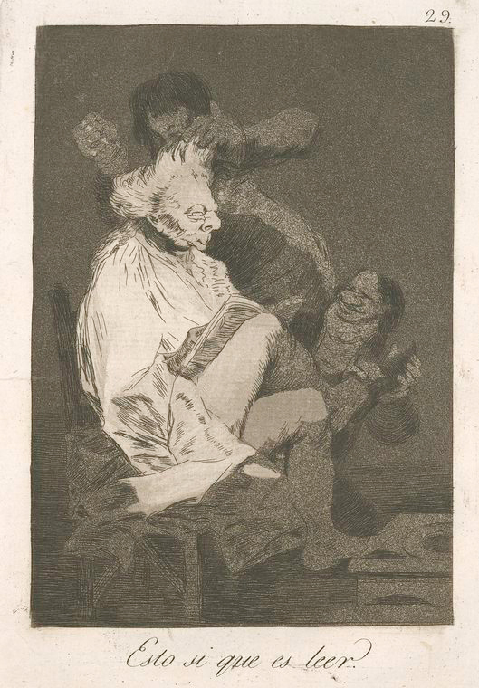 This is What Francisco Goya and Esto si que es leer? Looked Like  in 1799