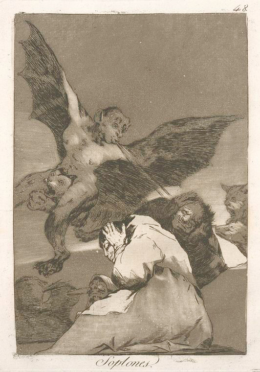 This is What Francisco Goya and Soplones Looked Like  in 1799