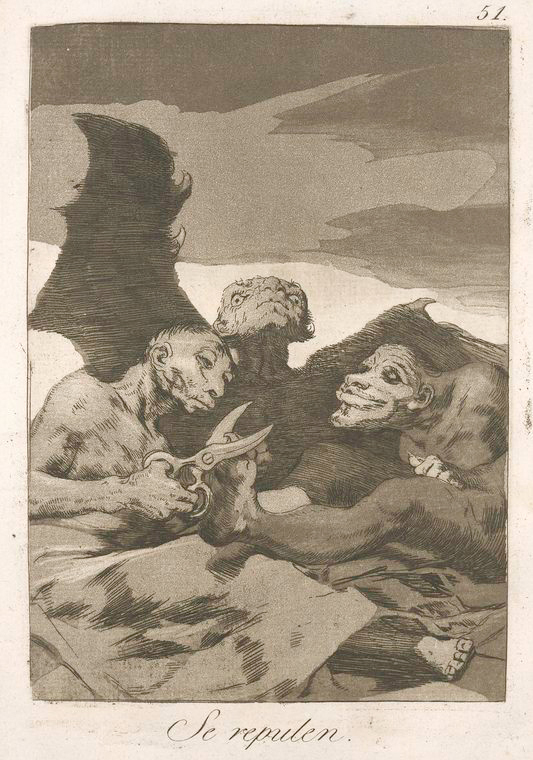 This is What Francisco Goya and Se repulen Looked Like  in 1799