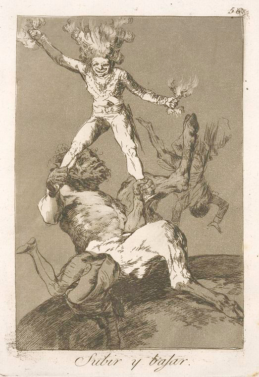 This is What Francisco Goya and Subir y bajar Looked Like  in 1799
