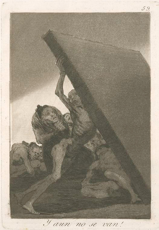 This is What Francisco Goya and Y aun no se van! Looked Like  in 1799