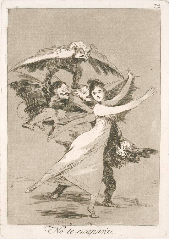 This is What Francisco Goya and No te escapar Looked Like  in 1799