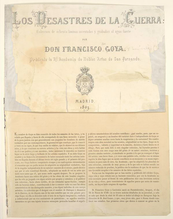 This is What Francisco Goya and Title page and biographical introduction Looked Like  in 1810