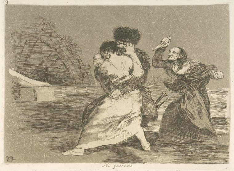 This is What Francisco Goya and No quiren Looked Like  in 1810