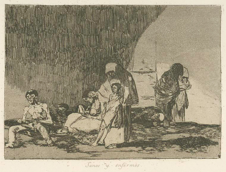 This is What Francisco Goya and Sanos y enfermos Looked Like  in 1810