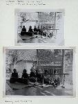 Wayang Beber of Gedompol. August 1937, at Poenoeng, Patjitan. Dalang [or dhalang, narrator] and musicians.