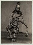 Java - Wayang Wong: Arjuna Wiwaha. Istana, Mangkunagaran, Surakarta, 1936-1937. Four-armed Batara Guru (Shiva) in movement.