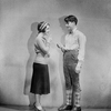 """Anita Fugazy and sixteen-year-old Junior Durkin (as Michael Nilas) in S. Jay Kaufman's production of """"The Lottery"""" at the Majestic in Brooklyn for week beginning November 17."""
