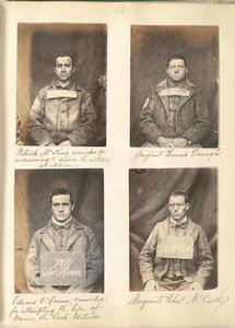 Patrick McKeag, convicted for endeavouring to seduce the military at Athlone ; Sergeant Thomas Donagh ; Edward O'Connor, convicted for attempting the life of Warner, the Cork Witness ; Sergeant Chas. McCarthy.