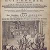 De medicyn-winkel of erbaren huys-houder: zijnde het III. Deel van het vermakelyck landt-leven.[title page depicting man examining horse, with bull and sheep nearby]
