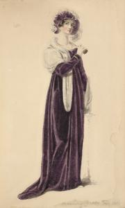 [Evening dress, February 1810.... Digital ID: 1111634. New York Public Library