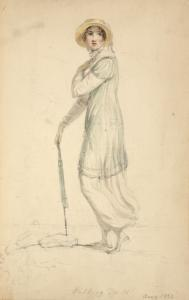 [Walking dress, August 1810.]