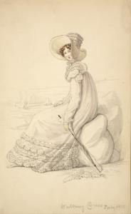 [Walking dress, July 1818.]
