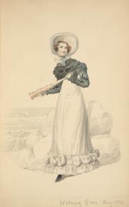 [Walking dress, August 1821.]