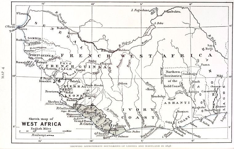 Sketch map of West Africa.